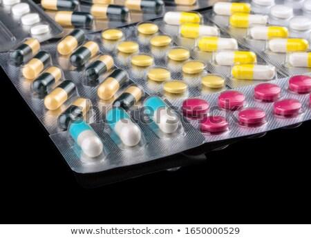 куча различный таблетки черный Сток-фото © dariazu