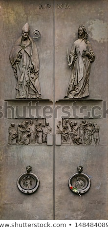 Detail from facade of Abbey of St Justina in Padua, Italy Stock photo © boggy