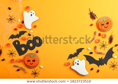zencefilli · çörek · halloween · kurabiye · sevimli · sığ - stok fotoğraf © furmanphoto