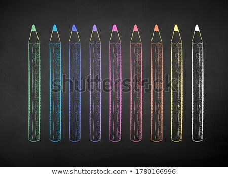 Powrót do szkoły kredy kolor ołówki zestaw odizolowany Zdjęcia stock © Imaagio
