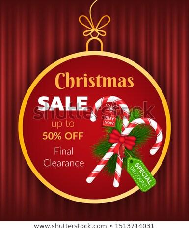 クリスマス · 販売 · 店 · ベクトル · ポスター - ストックフォト © robuart