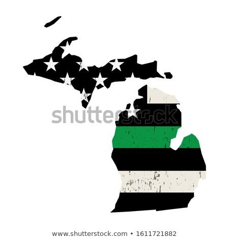 Michigan katonaság támogatás amerikai zászló illusztráció forma Stock fotó © enterlinedesign