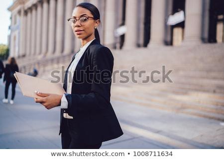Akıllı pozitif kadın zarif giysi Stok fotoğraf © vkstudio