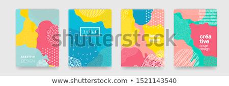 Absztrakt színes design sablon modern minta gradiens Stock fotó © karetniy
