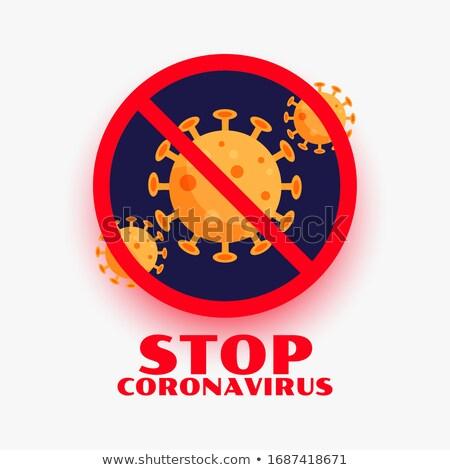 stop coronavirus covid 19 infection outburst symbol design stock photo © sarts