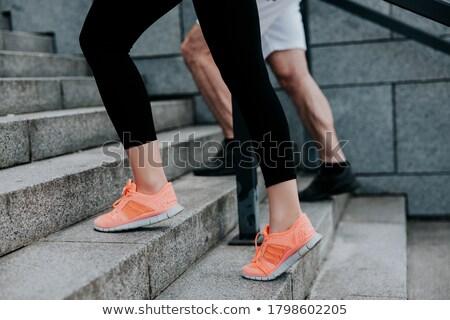 sport · cipők · láb · pár · fehér · visel - stock fotó © pressmaster
