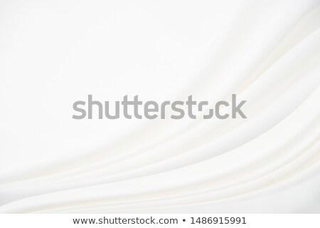 Gümüş soyut sanat ipek doku dalga Stok fotoğraf © Anneleven