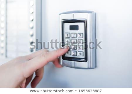 セキュリティ コード アラーム ドア センサー ホーム ストックフォト © AndreyPopov