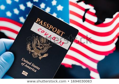 Globale coronavirus USA grens virus het voorkomen Stockfoto © vkstudio