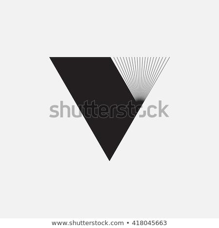 Trójkąt minimalny geometria logo technologii Zdjęcia stock © kyryloff