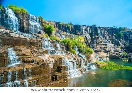 Vízesés Vietnam város nyár nap tájkép Stock fotó © bloodua