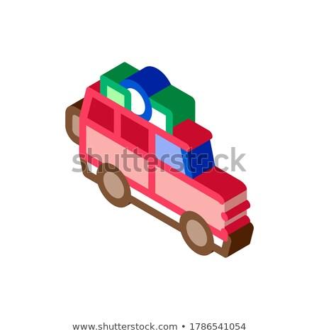 Camping voiture bagages isométrique icône vecteur Photo stock © pikepicture