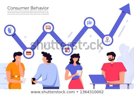 Cliente comportamento análise abstrato vetor ilustrações Foto stock © RAStudio