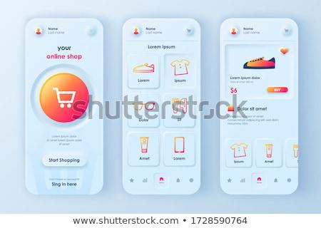Ecommerce marktplaats app interface sjabloon detailhandel Stockfoto © RAStudio