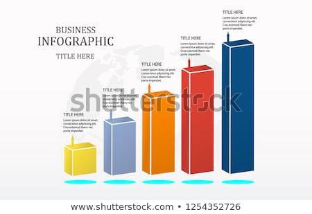 3d column chart Stock photo © Supertrooper