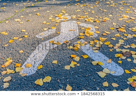 sidewalk with bright yellow paint cross on road                  stock photo © Melvin07