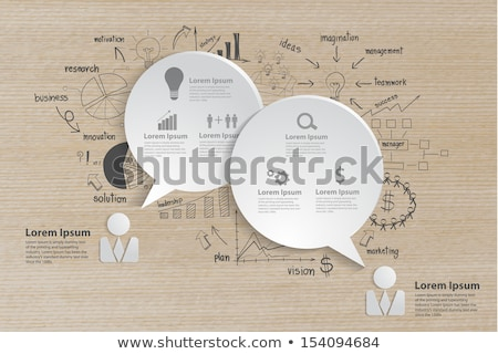 Groei grafiek trekken papier hout boom Stockfoto © Suriyaphoto