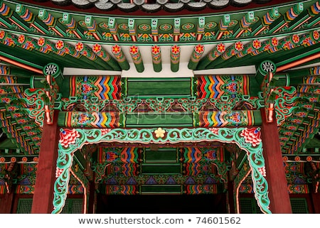 temple painting detail seoul south korea asia Stock photo © travelphotography