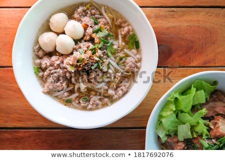 Varkensvlees vlees selderij voedsel vork Stockfoto © phbcz