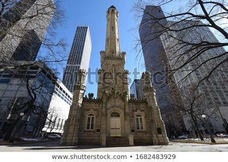 Histórico água torre Chicago centro da cidade Foto stock © benkrut