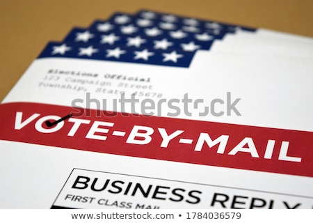 envelope letter and red paper and star stock photo © Sarunyu_foto