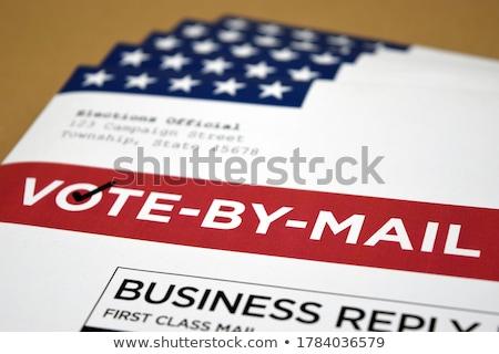 Photo stock: Enveloppe · lettre · rouge · papier · star · joyeux