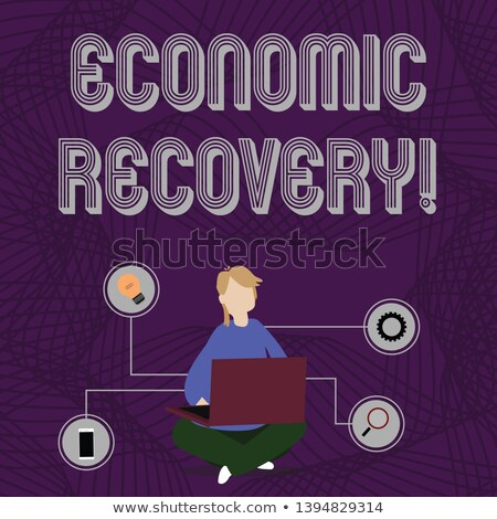 Crossing out recession and writing recovery. Stock photo © latent