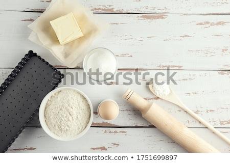 Sodrófa sütés izolált fehér fa szakács Stock fotó © elly_l