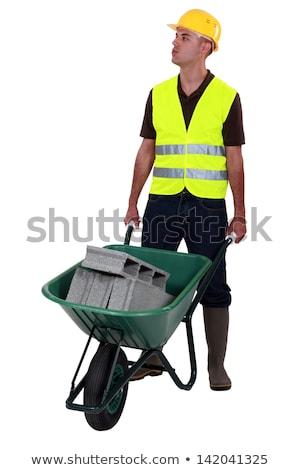 tuğla · işçi · dişli - stok fotoğraf © photography33