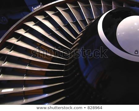 jet · motor · twee · groot · lucht · vliegtuig - stockfoto © bobkeenan