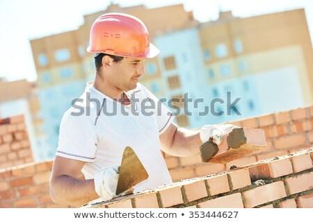 Mason working on wall Stock photo © photography33