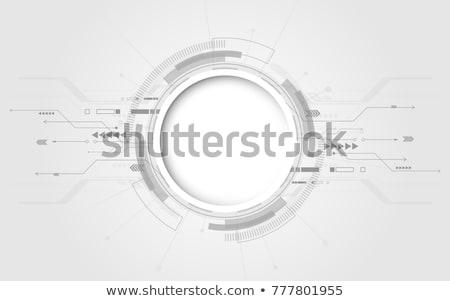 Abstract technologie cirkels illustratie achtergrond web Stockfoto © smeagorl