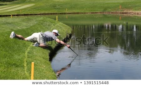 Golf Balls In Water Hazard Stock photo © albund