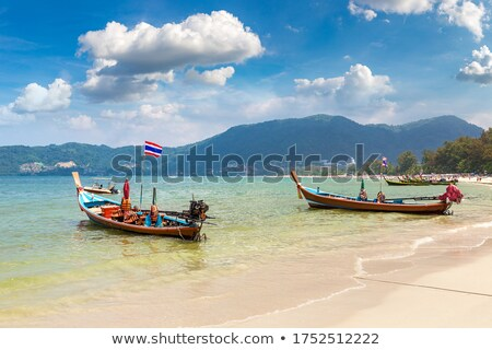 Mar Tailândia phuket panorama praia árvore Foto stock © pzaxe