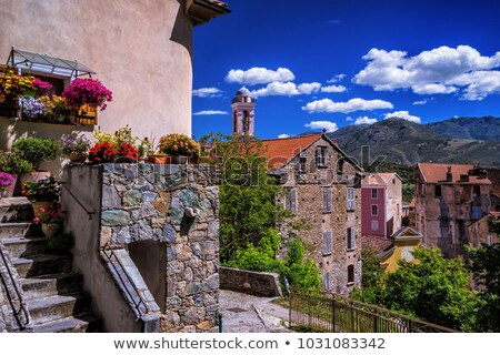 Corsica Corte village Stock photo © smithore