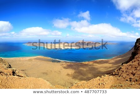 Lanzarote Mirador del rio La graciosa island panoramic Stock photo © lunamarina