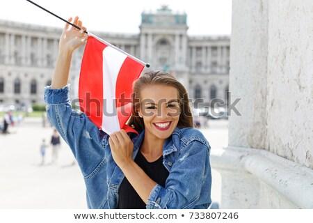bayrak · 3d · render · yansıma - stok fotoğraf © stevanovicigor