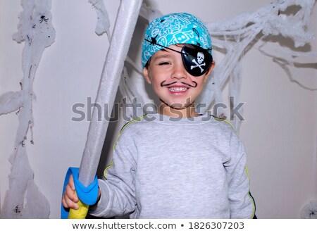 Kind dressing omhoog bouw teken mobiele Stockfoto © photography33