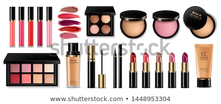 ストックフォト: 化粧品 · パレット · 白 · 明るい · 色