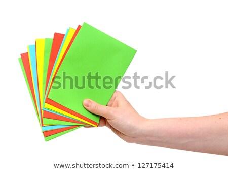 colorido · isolado · branco · fundo · verde · azul - foto stock © inxti