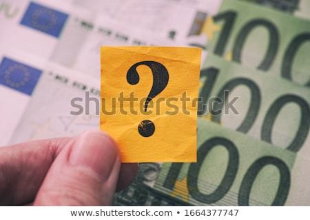 Euro In Question Stock photo © 3mc