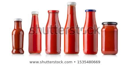 Tomates ketchup garrafa isolado branco comida Foto stock © karandaev