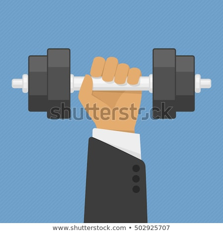 businessman with dumbbells in hands Stock photo © Andriy-Solovyov