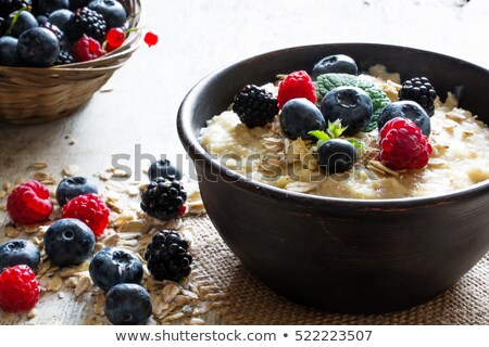 porridge and berries stock photo © m-studio