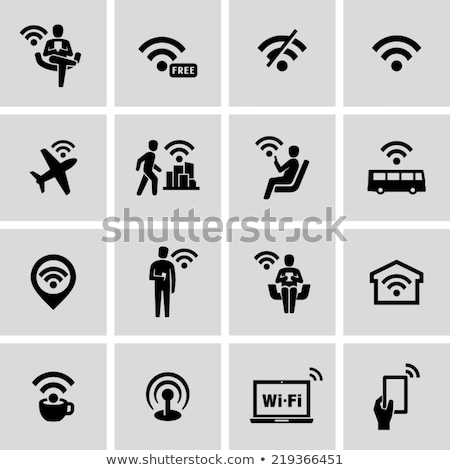 Wireless Hot Spot in airport Stock photo © ifeelstock