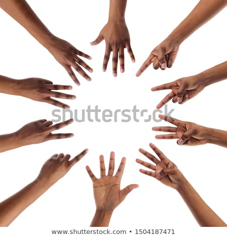 Hands counting from one to five stock photo © Pasiphae