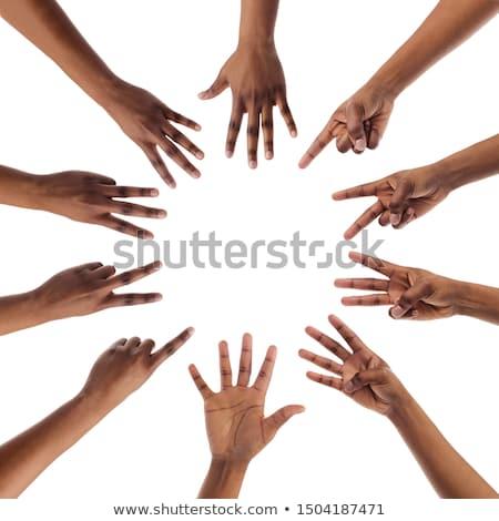 рук один пять школы мужчин белый Сток-фото © Pasiphae