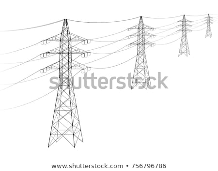 electricity tower with cable and insulator Stock photo © meinzahn