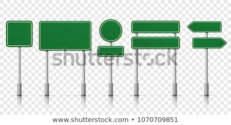 Trafik işareti imzalamak trafik ok yön ikon Stok fotoğraf © zzve