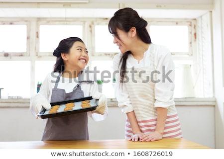 子 デスク クッキー 木製 垂直 ストックフォト © gewoldi